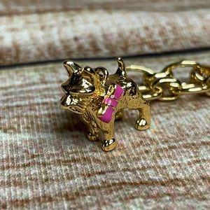 Kate Spade RARE Scottie Charm + Charm Bracelet
